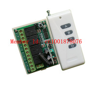 Free postage DC12V 4CH 4 channel 10A learning wireless remote control switch with 1000 m RF transmitter lamps, window controller