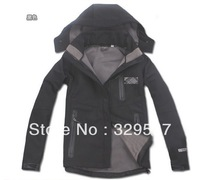 Free shipping waterproof windproof jacket with fleece lining female casual climbing jacket,good quality much size and color
