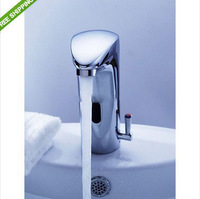 Perfect Hot Cold Mixer Automatic Hand Touch Free Sensor Faucet Bathroom Sink Tap a JN89007-1
