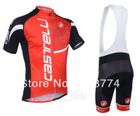 Fast Ship Hot Selling 2013 Red Castelli Cycle Jersey(Maillot)+Bib Short(Culot) Or Only Jersey(Lower Price) /MadeOf Polyester