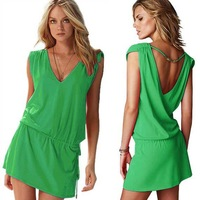 2015 Summer Hot fashion Ladies sexy swimwear Women's lovely beach dress 4 Color is available free shipping