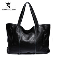 2013 Genuine Leather 7 Colors Shopping Bag Totes Handbags Concise Shoulder Bags For Women  Holiday Sale GLB-013
