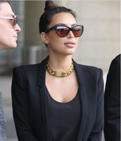 Most Fashion Celebrity Designer Jewelry,Gold&Silver Figaro Chunky ID Necklace/bracelet For Women Punk/Rock/Hiphop