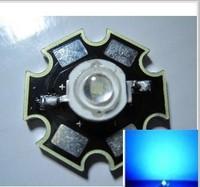 10PCS 3W  clod  Blue High Power LED   DC3.5-3.8V 700mA  455-470NM with 20mm Star Platine Heatsink