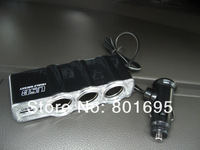 Free Fedex shipping 3 Socket Car Cigarette Lighter Charger USB Adapter retail package 1 to 3 Cigarette Lighter Splitter Charger