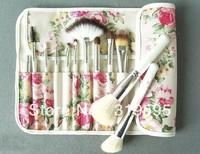 2013 hot 12 pcs pro Goat hair makeup brushes,makeup tools/freeshipping