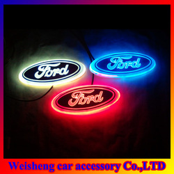 New Arrival 3D EL led car logo decorative lights For Ford Series car badge LED lamp Auto emblem led light Free shipping(China (Mainland))