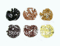 1 jar-1000piece total 6.0mm*3.0mm*3.4mm Micro cupper Rings/Links/Beads For Hair Extensions tool kit, auburn