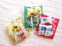 60 pieces Chirstmsn  garland cute glue bag 10cm*11+3cm Bakeware bag
