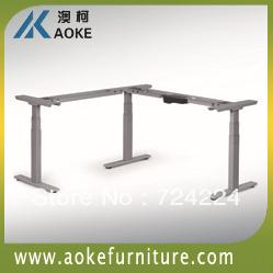 1410*1410 three legs metal adjustable executive working tables