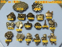 2014  Vintage bronze color shaped metal snap button for leather &bag decoration ,garment  press button  fasteners button