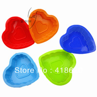 Free shipping factory wholesale silicone cake mould baking pan baking mould hearts