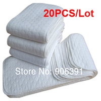 20PCS washable diaper newborn baby cotton diapers  high quality white color