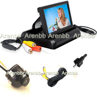 4.3 INch Foldable TFT Monitor +mini 360degree car camera car back up camera Rearview Car Camera ccd hd camera system AR-F-151