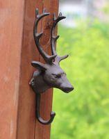 Fashion vintage iron hook wall muons coat hook clothes hanging hook coat hooks deer
