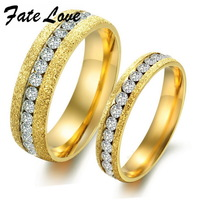 Min order 10$ (mix order) Shinning Couple Jewelry 18k yellow gold plated ring one row CZ diamond ring for Wedding Engagement 362