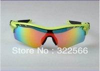 wholesale! New arrival Top quality Radarlock polarized cycling glasses Men/Women fashion sports sunglasses 14 colors 5pairs lens