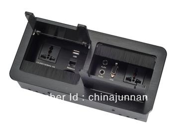 Advanced aluminum tabletop socket outlet / HDMI / USB / rj45 / AV etc.
