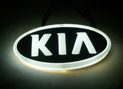 2013 Free shipping NEW Design 4D led car emblem Light car led Badge Lamp car led logo KIA(China (Mainland))