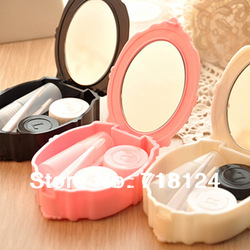 New Fashion Color Contact Lenses Case Box Eyewear Bags Glasses 8.5*7*2.5cm Free shipping 0167(China (Mainland))