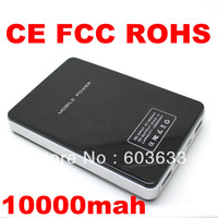 free post , CE FCC RoHS , dual usb 10000mah power bank external back up battery emergency charger with led light SPPW02