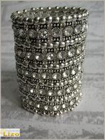2013 New women lady Bracelet vintage bangle watch fashion crystal rhinestone bracelet Free shipping
