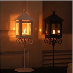 Wholesale Zakka Classical Landing Metal Lantern Wrought Iron Ornaments Romantic Candle Holders For Wedding Home Decoration A014(China (Mainland))
