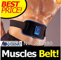 1PCS Dropshipping Muscles Belt AB Gymnic Exercise abdomin body shaper Slimming toner Arm leg Waist Massager New Free Shipping(China (Mainland))