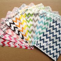 Free DHL Shipping 3000pcs Party Favor Bags Kraft Paper Bags, Mix Colors, Chevron Favor Bags, Party Treats,party bags for kids