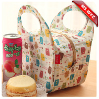 ms wang zoo waterproof thermal insulation lunch bag lovely bento lunch box package small bag