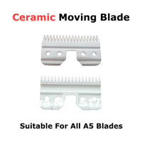 Ceramic moving blade 18 teeth professional pet clipper blade standard size Ostar A5 blade 2013  hot sale free shipping 10pcs/lot