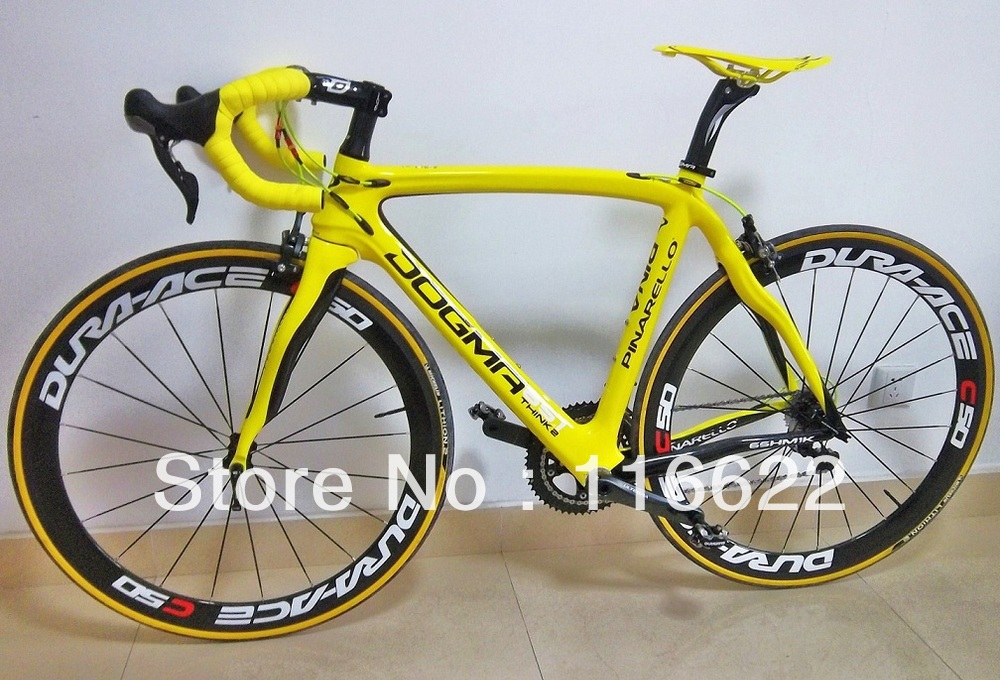 Yellow 2013 carbon bike COMPLETE BIKE With ULTEGRA Groupset full bike pinarello(China (Mainland))