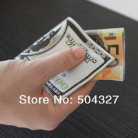 Free Shipping 1Piece cale-pote Money Door Stopper Dollar / Japanese Yen / Euro Bill Money Doorstop