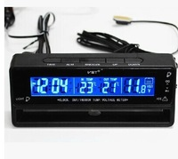 Special Style  Car In/Out Thermometer With Voltage meter and Freeze -Alert and Clock