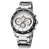 Dress Watch For Men Quartz Fashion EYKI Brand Full Stainless Steel Wristwatch Date/Week Display-EOVS8605AG