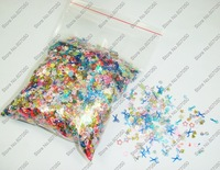 50g/bag x Mixed Colors Dazzling Random Mixed Paillette Spangles Shape for Nail Art Decoration -Free Shipping Wholesale
