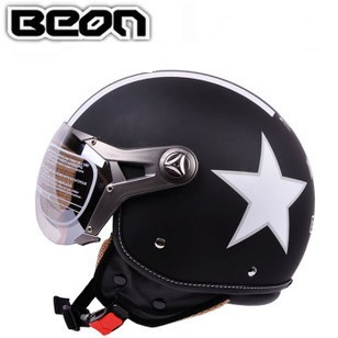 Hot sale 1pcs/lot BEON 100 Motorcycle helmet ECE star pattern nameplate half face racing /Electric car hat anti-UV summer helmet