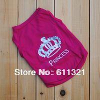 The Pet Dog Clothes T Shirt Princess Shirts Dress Vest Pets Supplies Size XS S M L Free Shipping #3905