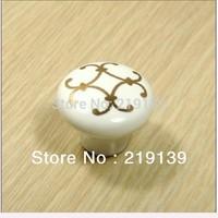 NEW White Ceramic Furniture Kitchen Cabinet Hardware Door Pulls Drawer Round Porcelain Knobs Handles