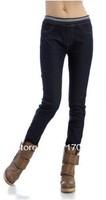2013 spring elastic waist pants female skinny jeans legging pants mm plus size Free shipping