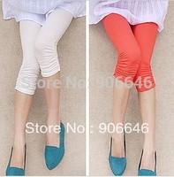 New Fashion Knitting K262 Summer women pants Modal short trousers leggings high elastic candy colors 1PC/LOT FREE SHIPPING