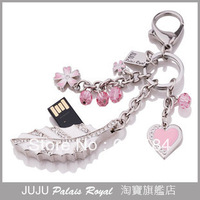 Free shipping JUJU jewelry USB Flash drive, Flashdrive Memory Stick Key metal usb gifts,swarovski crystals, 2.0 usb, 2/4/8/16GB