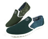2013 Korean Casual Fashion Lazy Mens Canvas Breathe Shoes Wholesale Free shipping LS011