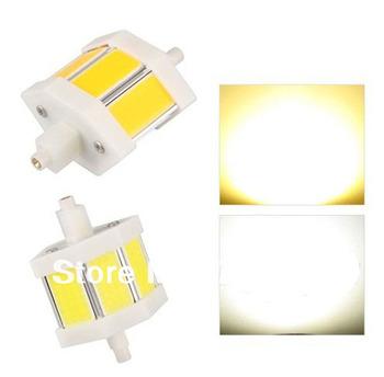 Free shipping R7s 3 COB LED White Spotlight Light Lamp Bulb 5W 78mm 350lm High Power