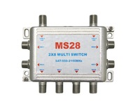 Free shipping, NEW product LNB voltage selected multiswitch MS28, DiSEqC 2 in 8 out, Switch Satellite LNB Switch