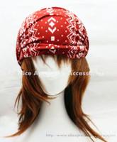 2014 New Fashion Retro Snowflake Printed Elastic Hairwrap Headwrap Bandanas Wholesales 40pcs/lot