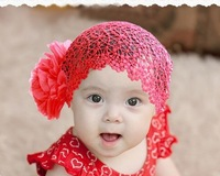 New Baby Girl Toddler Lace Headband Hair Bow Accessories 3 Colors Headwear