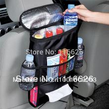 2015 high quanlity Multifunctional car seatback thermal cooler bag organizer w/ tissue Box fabric storage hanging bag waterproof(China (Mainland))