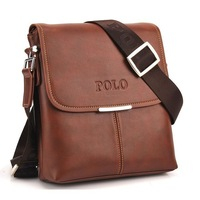 2014 new fashion polo bag genuine leather messenger bags high quality handbag designer bussiness bag handbag free shipping