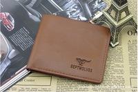 Free shipping 10 pieces of the batch  Fashion Hot Sale! Cowboy Men's Genuine Leather Wallet Multi Pocket Purse